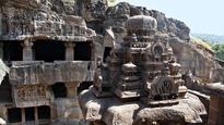 Walking through the diverse caves of Ellora