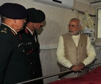 PM visits Lance Naik Hanumanthappa in hospital