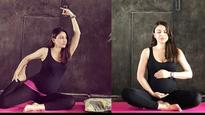 World Yoga Day: Pregnant Soha Ali Khan flaunts her baby bump while doing yoga!
