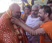 Udupi: Amit Shah visits Krishna temple, interacts with seers