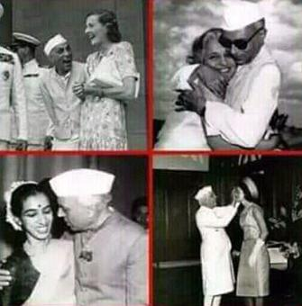 LIVE! Hello BJP, the woman in the pic is Nehru's sister!