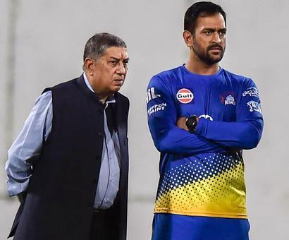 PHOTOS: Dhoni-Srinivasan reunite as CSK gear up for IPL