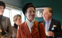 Princess Anne back at work