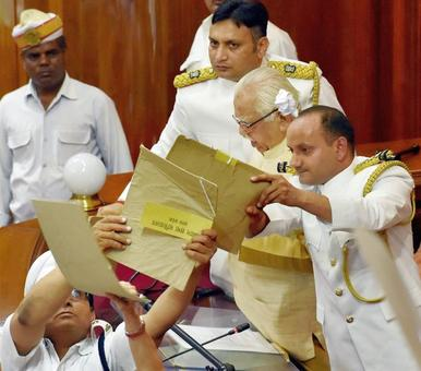 Paper balls flung, whistles blown: Chaotic start to UP assembly session