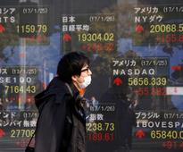 CORRECTED - Asian stocks drop as fresh Trump jitters jolt risk sentiment