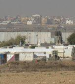 On the border of Israel and the Gaza Strip