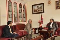 Nandy calls on UCPN-Maoist Chair Dahal