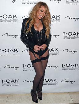 Mariah Carey hits the red carpet in lingerie!