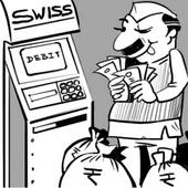 Swiss bank ATM in parliament compound! No wonder they are happy