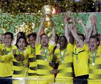 German Cup: Pierre-Emerick Aubameyang powers Borussia Dortmund to title win over Eintracht Frankfurt