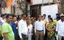 Mumbai: Sena workers from Wadala ward protest against denial of BMC poll ticket to local leader