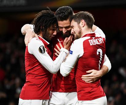 Europa League: Arsenal maul Bate 6-0, Red Star advance after 26 years