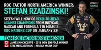 Nissan Micra Cup driver, Stefan Rzadzinski, rallies his local community to earn coveted spot in annual Race Of Champions competition
