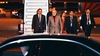 PM Modi arrives in Sweden to warm welcome, received by Swedish premier Stefan Lofven at airport