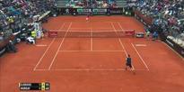Amazing Andy Murray shot on championship point in Rome v Djokovic  2016 Internazionali BNL dItalia