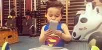 Toddler takes gym selfies in Havelock North