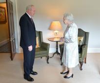Queen jokingly tells Martin McGuinness 'I'm still alive'