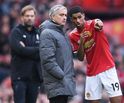 Mourinho hits back at De Boer over Rashford comments