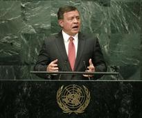 Jordan's King Abdullah says two-state solution basis of Middle East peace