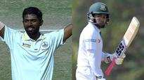 Century! Vijay Shankar plays a blinder of a knock after Nitin Saini perishes for 66.The Tamil Nadu lad blasts a hundred off 81 balls with 14 fours and 6 sixes.Abhinav Mukund has finally declared with a lead of 237 runs.Bangladesh openers Ta