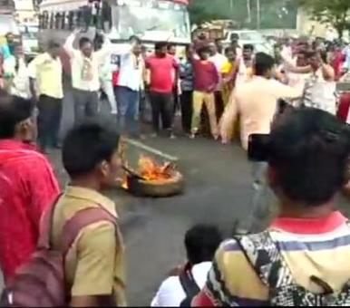 Denied poll ticket, party workers take to streets