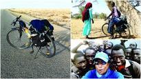 Sahara & the cyclist