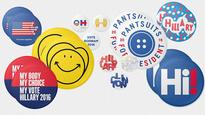 Hillary Clinton's Campaign Enlists 45 Top Designers To Create Buttons
