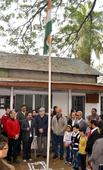 Northeasterns Salute Tri-colour On R-Day