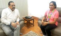 Dipa Karmakar Calls On Dr. Jitendra Singh