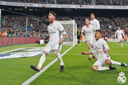 El Clasico PHOTOS: Ramos strikes late equaliser as Real Madrid hold Barca