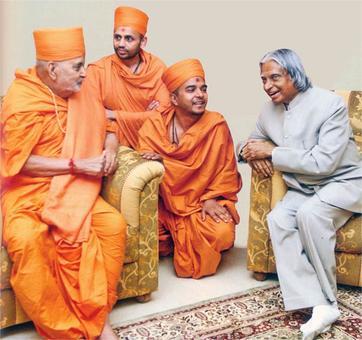 When A P J Abdul Kalam met Pramukh Swami Maharaj
