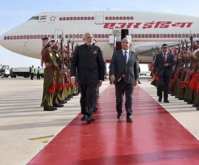 PM Modi arrives in Jordan on first leg of three-nation tour