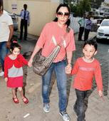 Spotted: Sanjay Dutt's wife Maanayata with kids in Juhu
