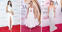 Chanel Iman, Karlie Kloss, and Rosie Huntington-Whiteley Give Bridal Style On the Red Carpet