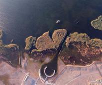 Scenery of Juyanhai Lake in Inner Mongolia