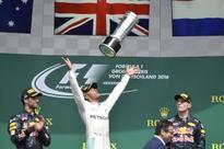 Hamilton celebrates German GP win after Rosberg has nightmare first lap