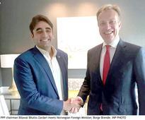 Bilawal meets Norwegian foreign minister