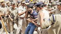 Protest against JNU seat cut turns ugly
