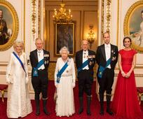 Elegance: Duchess Kate dons Princess Diana's signature tiara for new royal portrait