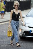 Pixie Lott beats the city heat as West End star arrives at theatre ready for work in her leotard