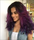 Move over Aishwarya Rai Bachchan Taapsee Pannu colours her hair purple