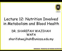 Lecture 12 nutrients involved in energy metabolism