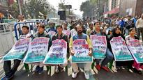 TMC MPs sit on dharna, cops close South Avenue