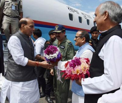 Rajnath reviews security situation in Kashmir, says open for talks