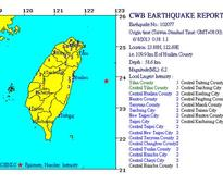 Magnitude 6.2 earthquake strikes eastern Taiwan