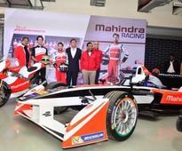 Mahindra M2Electro Formula E electric racing car at BIC