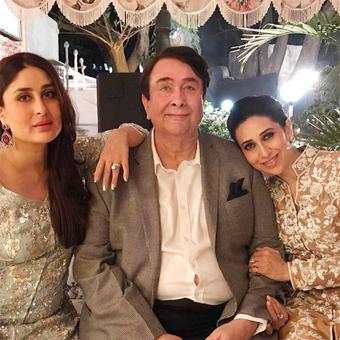 PIX: Kareena-Karisma celebrate dad Randhir's birthday