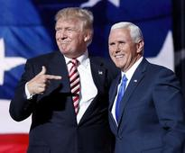 Mike Pence accepts Republican VP nomination at party convention in Cleveland