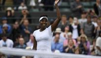 Venus strides into Wimbledon quarter-finals