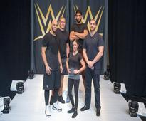 Indian born NBA star Satnam Singh steps in the ring at WWE Performance Centre